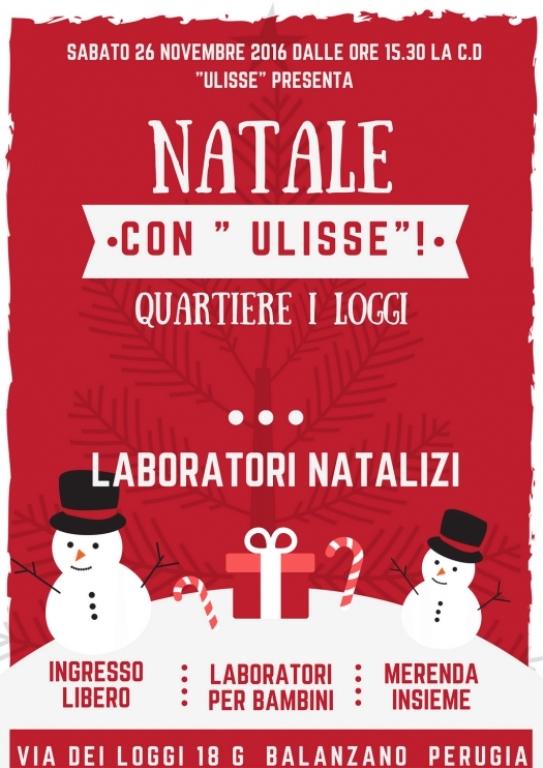 Sabato 26 novembre – Laboratori natalizi al Cad Ulisse