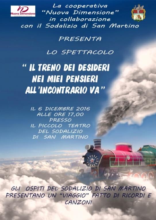 Martedì 6 dicembre – Spettacolo Musicale al Sodalizio San Martino