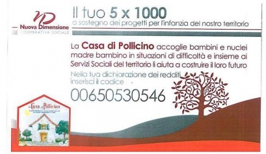 Il tuo 5 x mille per la Casa di Pollicino
