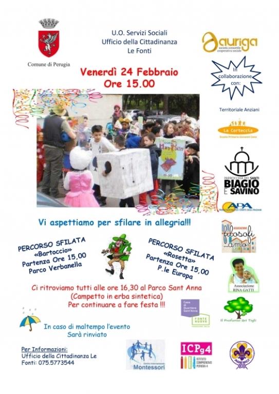 Venerdì 24 Febbraio – Venite a sfilare con noi !!!  14 February 2017 Eventi