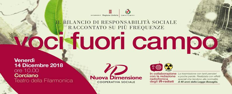 il 14 dicembre la presentazione del Bilancio di Responsabilità Sociale
