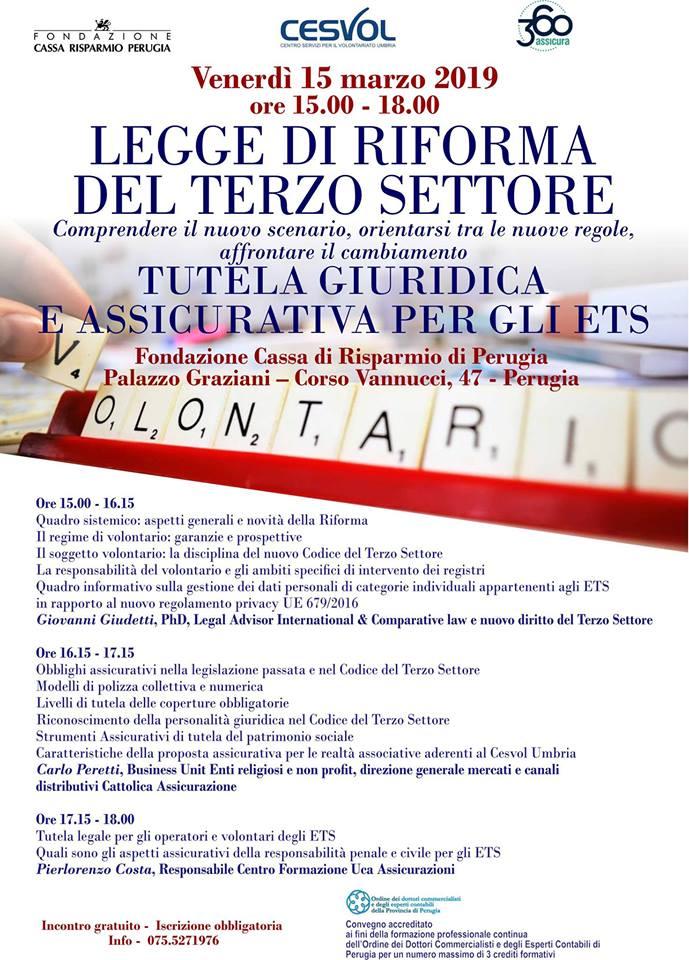 Seminario formativo sulla Legge di Riforma del Terzo Settore