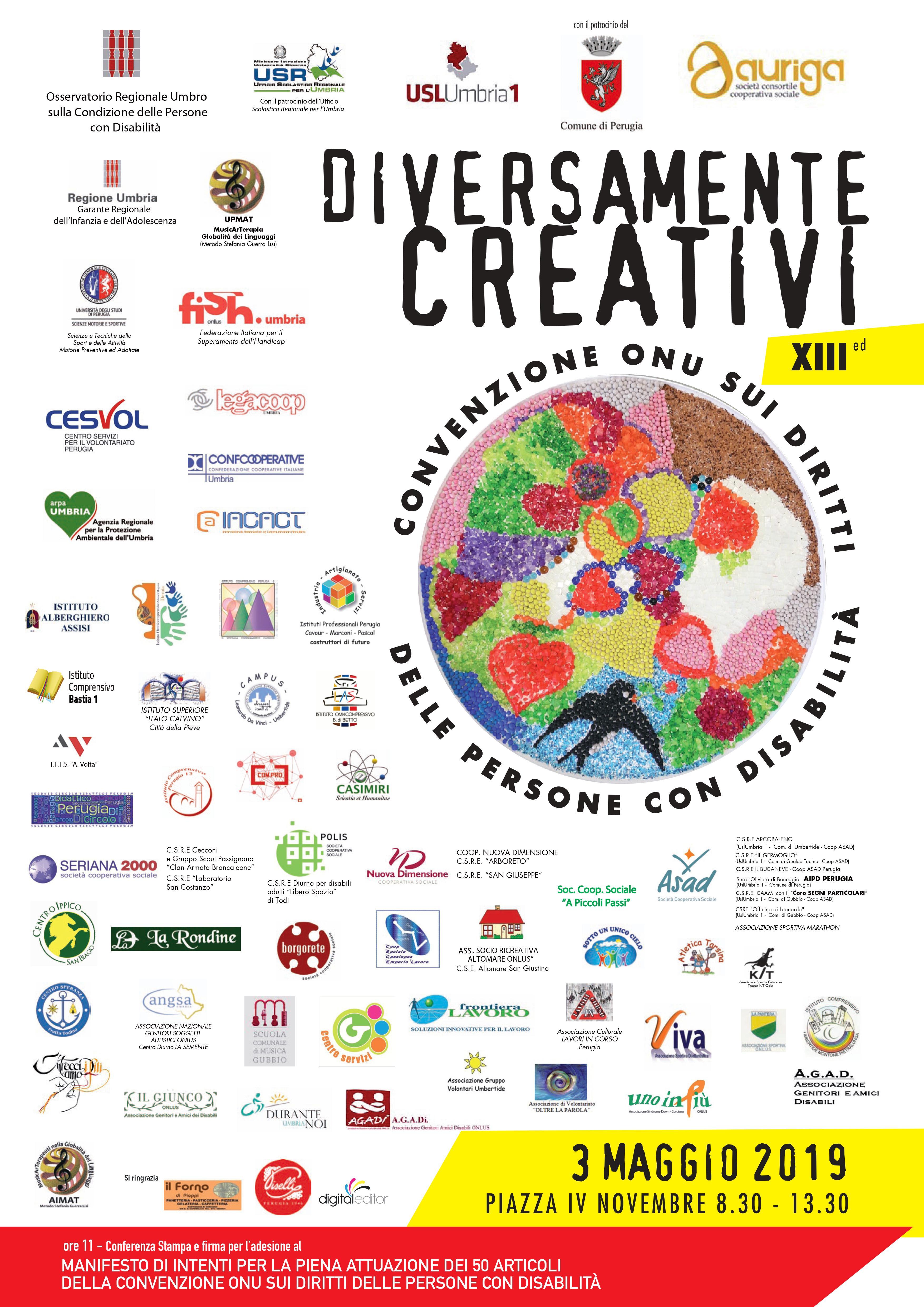 """03 maggio – XIII° edizione """"Diversamente Creativi"""""""