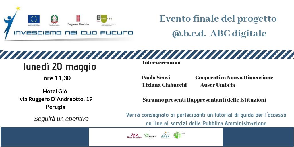 20 maggio – Evento conclusivo del progetto @.b.c.d. ABC digitale